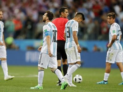 Sklamaní hráči Argentíny