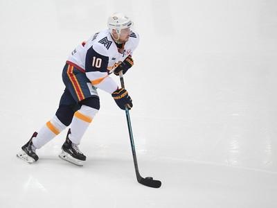 Ruský hokejista Sergej Mozjakin
