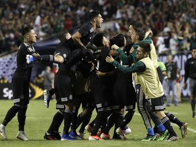 Radosť Mexičanov po trefe