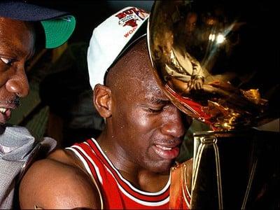 Michael Jordan pri oslavách