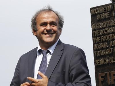 Michel Platini pri otvorení