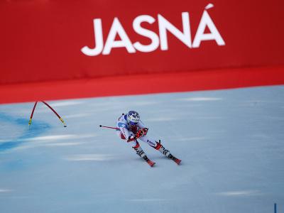 Michelle Gisinová počas 2. kola obrovského slalomu v Jasnej