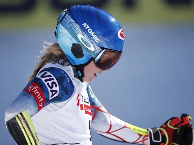Mikaela Shiffrinová reaguje na tretie miesto v obrovsom slalom