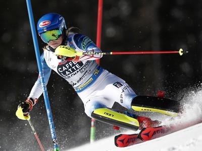 Mikaela Shiffrinová počas slalomu v Cortine