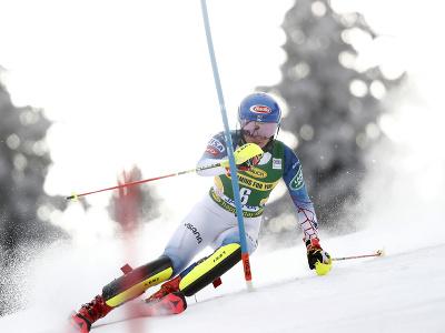 Mikaela Shiffrinová počas 2. kola slalomu v Jasnej