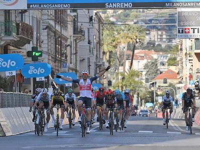 Jesper Stuyven finišuje na prvom mieste na monumente Milano - San Remo