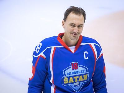Hokejista Miroslav Šatan počas