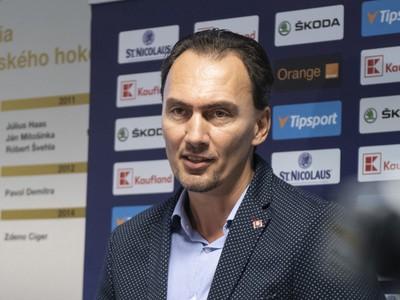 Miroslav Šatan počas tlačovej