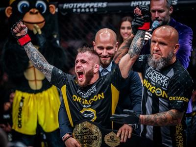 Tomáš Deák sa stal držiteľom titulu v bantamovej váhovej kategórii (do 61 kg) organizácie Oktagon