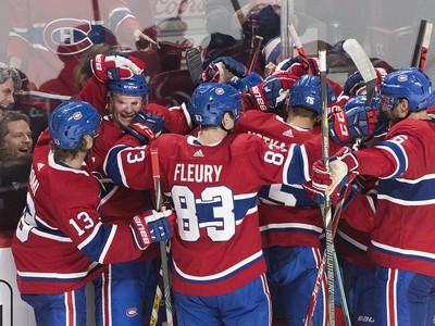 Radosť hráčov Montrealu Canadiens