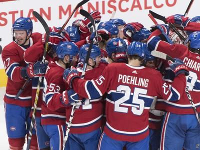 Hráči Canadiens a ich obrovská radosť