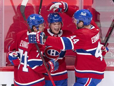 Hráči Montreal Canadiens oslavujú