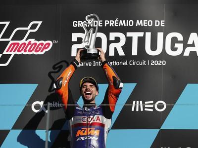 Miguel Oliveira a jeho víťazné oslavy po triumfe na Veľkej cene Portugalska