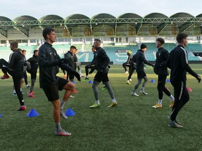Futbalisti MŠK Žilina počas prvého tréningu v zimnej príprave pred štartom jarnej časti Fortuna ligy