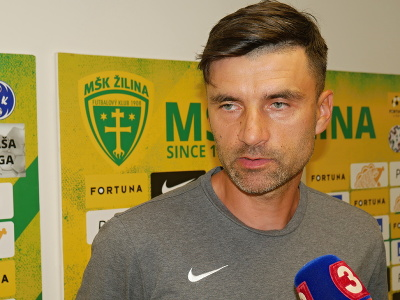 Na snímke tréner MŠK Žilina Pavol Staňo