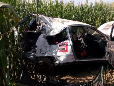 Zošrotované auto Renault Clio
