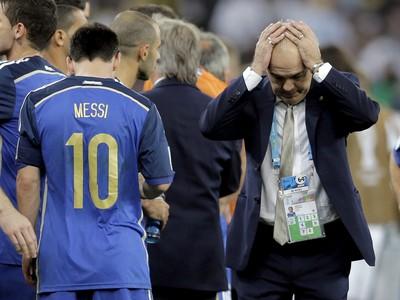Lionel Messi a Alejandro Sabella