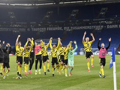 Víťazné oslavy futbalistov Borussie