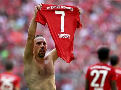 Lúčiaci sa Franck Ribéry