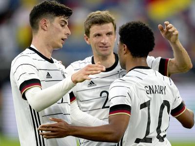 Radosť hráčov Nemecka po
