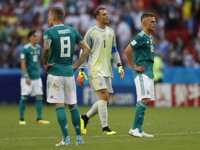 Sklamaní futbalisti Nemecka