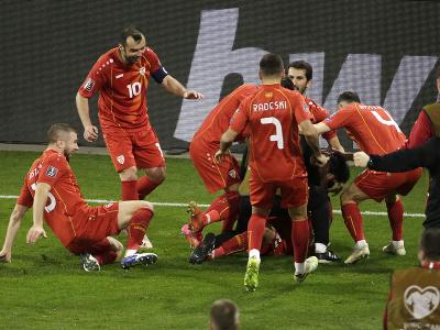 Obrovská radosť Severného Macedónska po výhre nad Nemeckom