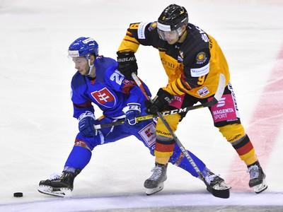 Na snímke vľavo Jakub Sukeľ (Slovensko) a Tim Brunnhuber (Nemecko)