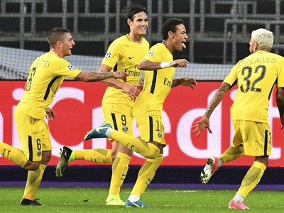 Neymar oslavuje svoj gól