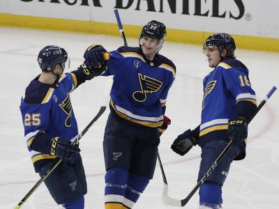 Gólová radosť hráčov St. Louis Blues