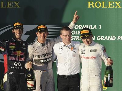 Daniel Ricciardo, Nico Rosberg,