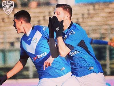 Nikolas Špalek oslavuje gól