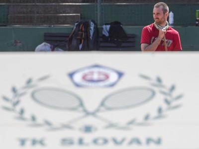 Tréning tenistu Norberta Gombosa