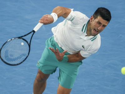 Novak Djokovič počas semifinále
