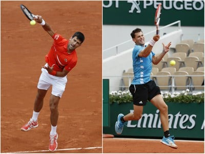 Novak Djokovič a Dominic Thiem