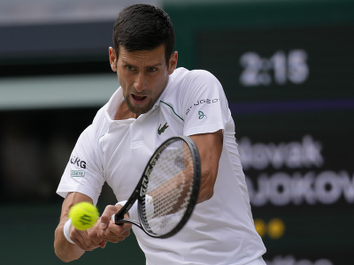 Novak Djokovič vo finále Wimbledonu