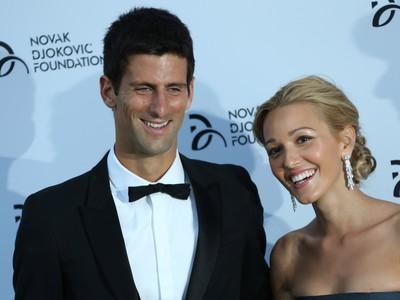 Novak Djokovič s manželkou