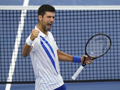 Novak Djokovič a jeho víťazná radosť