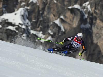 Adam Žampa počas obrovského slalomu