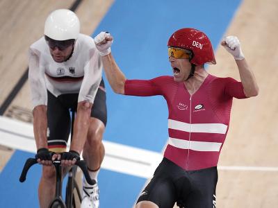 Dánske duo dráhových cyklistov