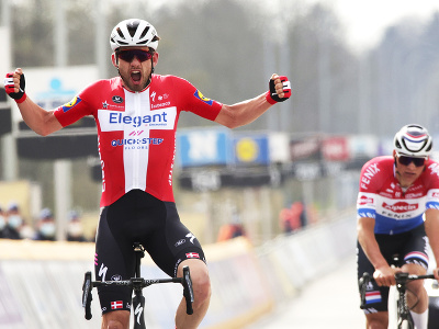 Dán Kasper Asgreen triumfoval na Okolo Flámska