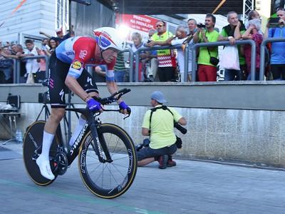 Víťaz prológu 62. ročníka medzinárodných etapových cyklistických pretekov Okolo Slovenska Bob Jungels z tímu Quick Step Floors v Poprade