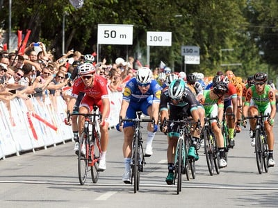 Víťaz etapy Fabio Jakobsen