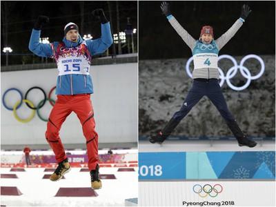 Darja Domračevová a Ole