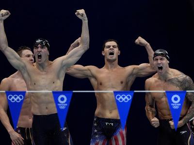 Americkí plavci, zľava Ryan