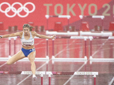 Na snímke slovenská atlétka Emma Zapletalová počas semifinále behu na 400 m prekážok na XXXII. letných olympijských hrách v Tokiu