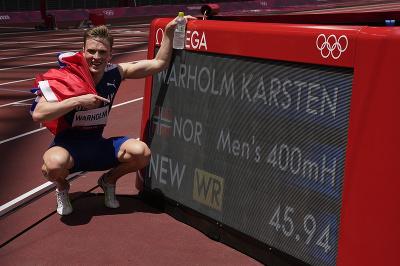 Nórsky atlét Karsten Warholm