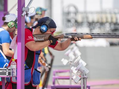 Na snímke slovenská reprezentantka v športovej streľbe Zuzana Rehák-Štefečeková