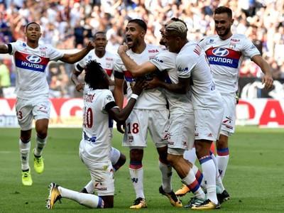 Gólové oslavy futbalistov Lyonu