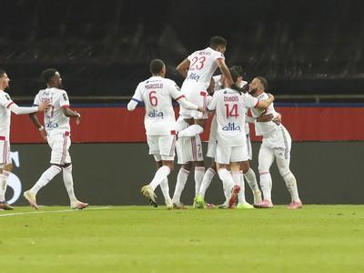 Radosť hráčov Lyonu