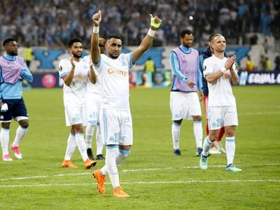 Radosť hráčov Olympique Marseille
